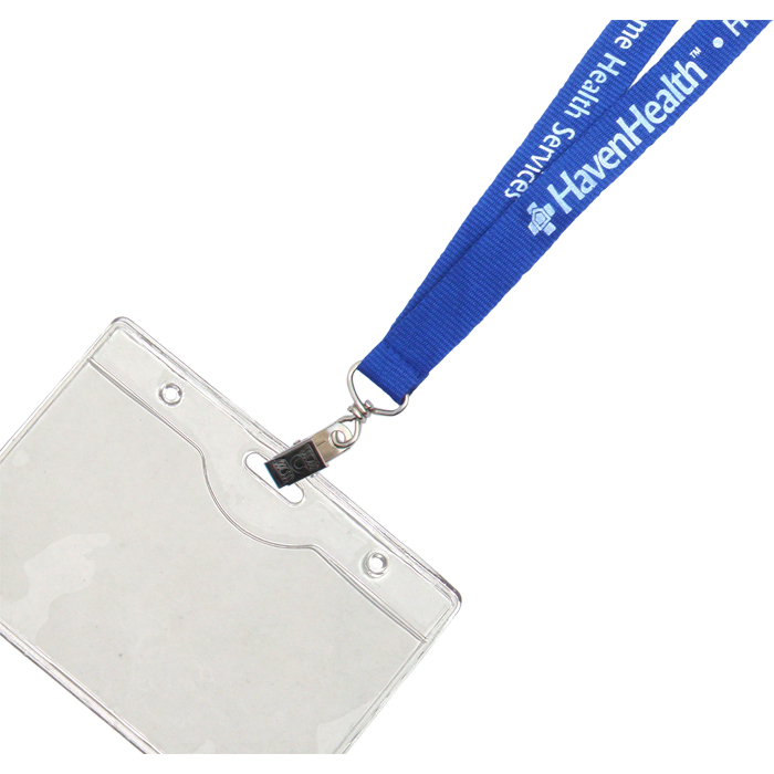 Clear plastic PVC ID holder