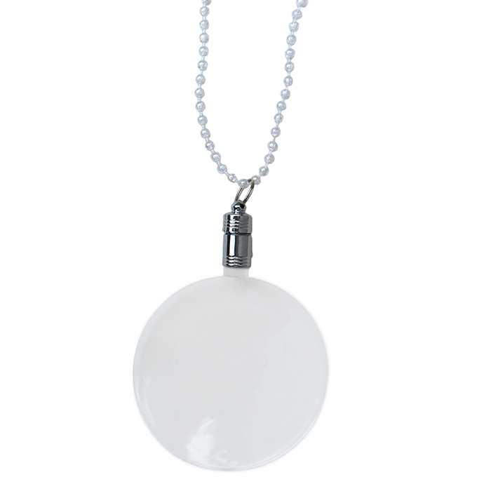 Flashing mardis gras beads & pendant - Sale Item